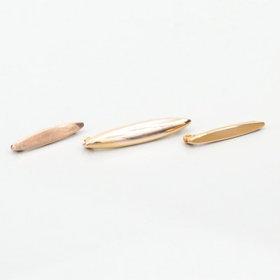 Vintage 8K and 10K Yellow Gold Lingerie Pins
