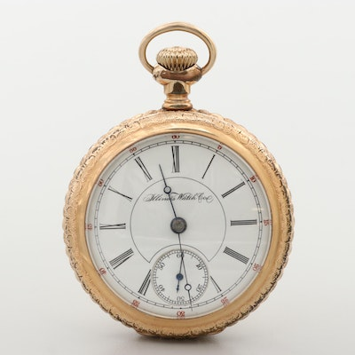 Antique Illinois Gold Filled Railroad Grade Open Face Pocket Watch, 1895