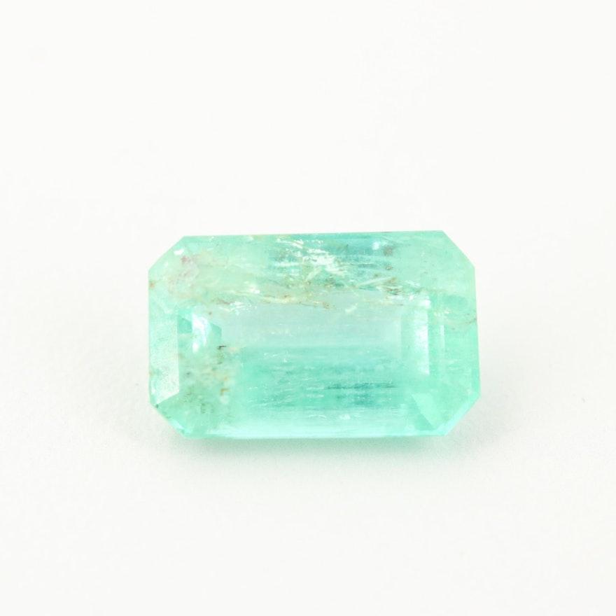 Loose 4.48 CT Emerald Gemstone