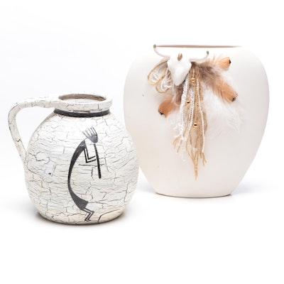 Southwestern Style Ceramic Vessels, Circa 1996