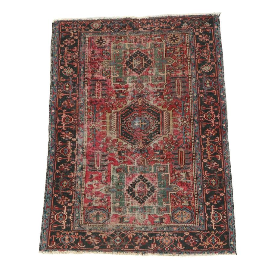 Hand-Knotted Persian Karaja Wool Area Rug