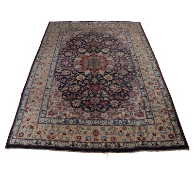 8.4' x 11.9' Hand-Knotted Persian Mashhad Room Sized Rug, Circa 1960s