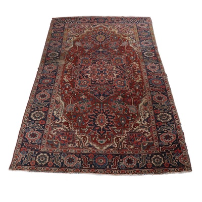6.5' x 10.3' Hand-Knotted Persian Heriz Rug, Circa 1930s