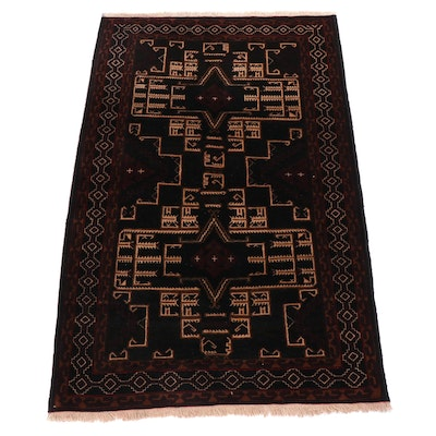 3.6' x 5.9' Hand-Knotted Persian Baluch Rug, Circa 1970s