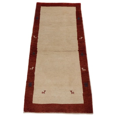 3' x 7' Hand-Knotted Persian Gabbeh Rug