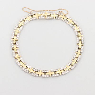 18K Yellow and White Gold 1.32 CTW Diamond Bracelet