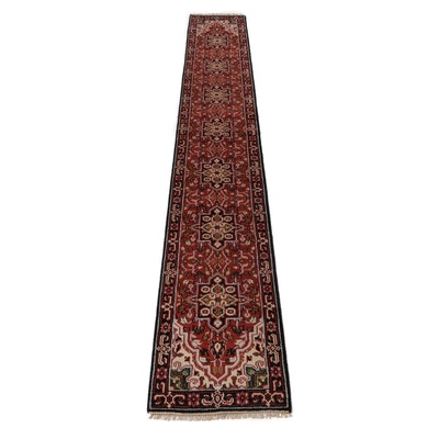 2.5' x 15.9' Hand-Knotted Indo-Persian Heriz Carpet Runner