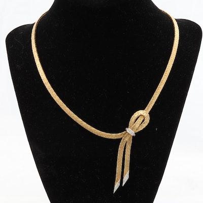 Corletto 18K Yellow Gold 1960s Diamond Necklace