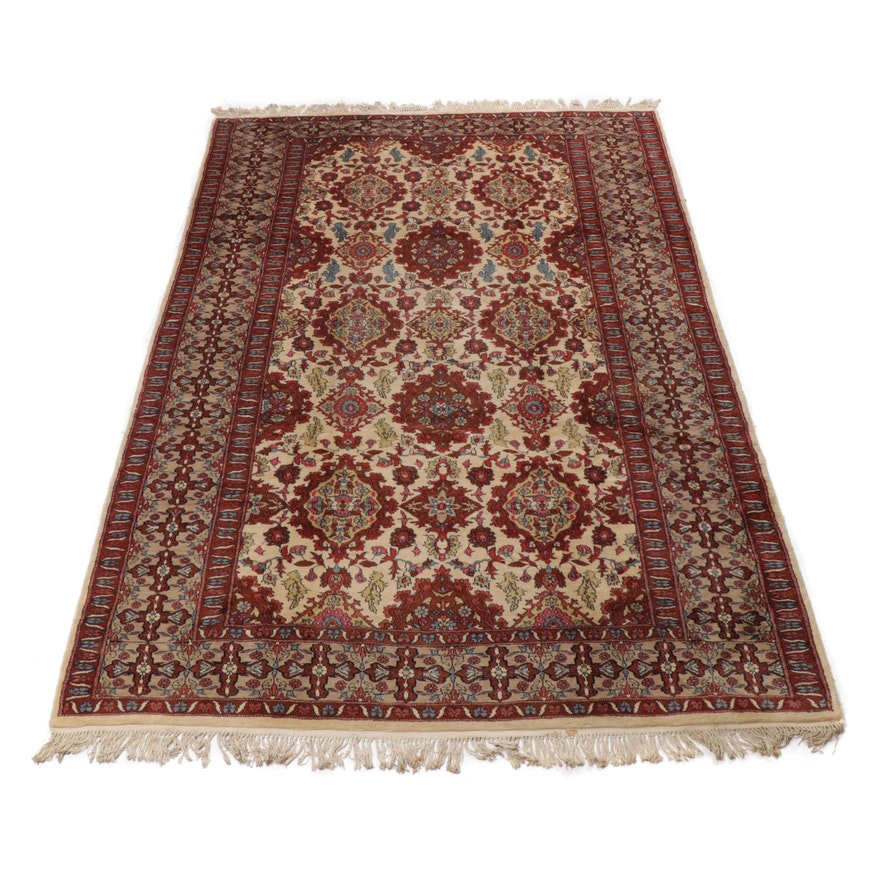 6.3' x 9.9' Hand-Knotted Pakistani Persian Tabriz Rug