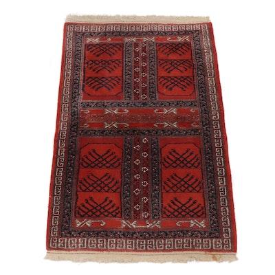 3.3' x 5.2' Hand-Knotted Persian Turkoman Ensi Rug, Circa 1960s