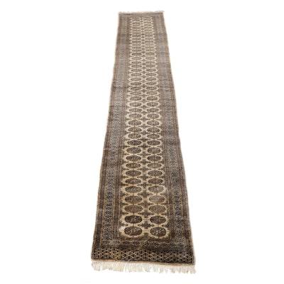 2.8' x 15.4' Hand-Knotted Pakistani Bokhara Carpet Runner