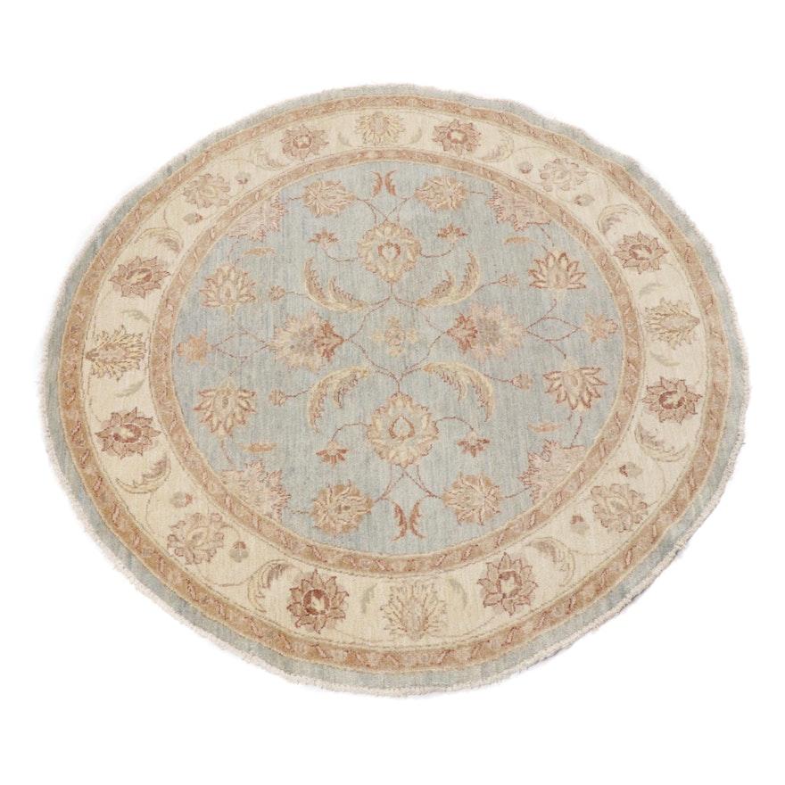 5' x 5' Hand-Knotted Pakistani Persian Tabriz Round Rug