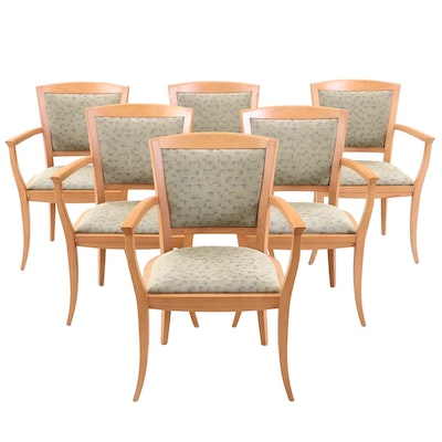 Loewenstein Maple Armchairs, Set of Six