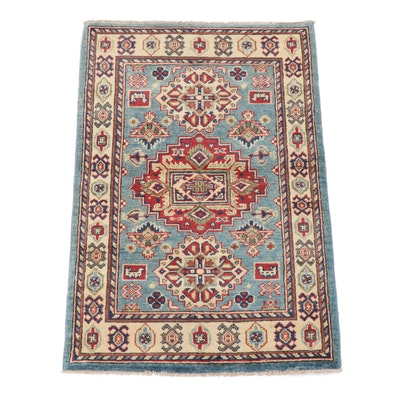 2.9' x 4' Hand-Knotted Afghani Caucasian Kazak Rug