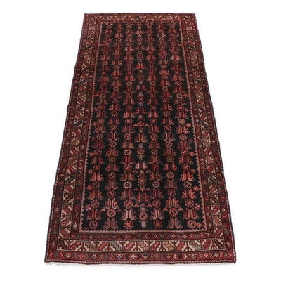 4.1' x 9.5' Hand-Knotted Northwest Persian Long Rug, Circa 1970s