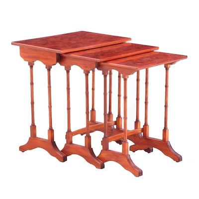 Nesting End Tables, Set of Three, Mid-Century Vintage