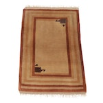 2.8' x 4' Hand-Knotted Romanian Persian Gabbeh Rug
