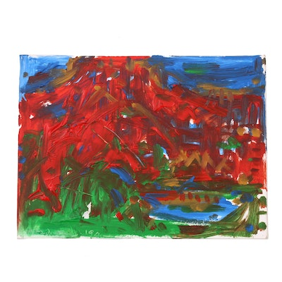 Jack Meanwell Abstract Expressionist Acrylic Painting