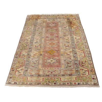 6.5' x 10.2' Hand-Knotted Turkish Village Rug, Circa 1950s