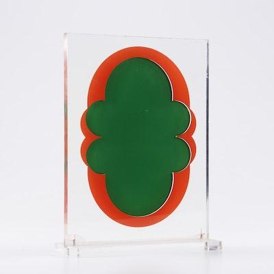 Kumi Sugai Serigraph and Plexiglass Sculpture