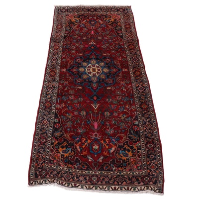 4' x 9.4' Hand-Knotted Persian Bijar Long Rug, Circa 1970s