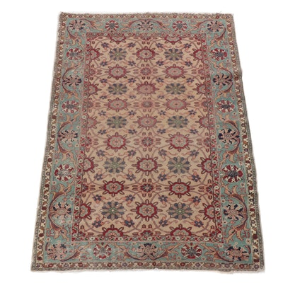 3.9' x 5.6' Hand-Knotted Turkish Hereke Rug, Circa 1920s