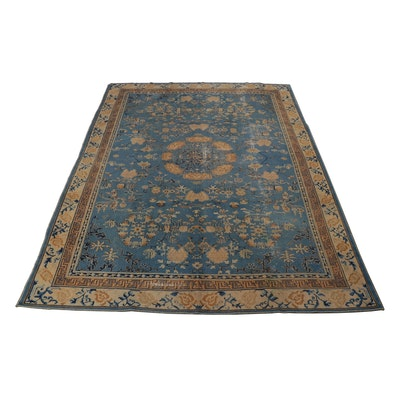 8.10'x 11.4' Hand-Knotted Chinese Peking Room Sized Rug, Circa 1900s