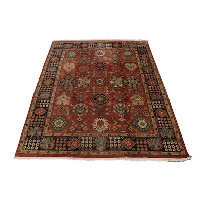 8' x 10' Hand-Knotted Indo-Persian Mahal Rug, Early 20th Century