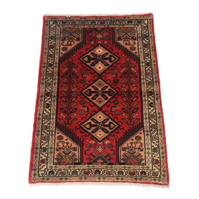 2.5' x 3.9' Hand-Knotted Persian Malayer Rug, Circa 1970s