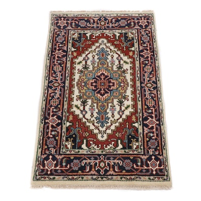 3.1' x 5.1' Hand-Knotted Indo-Persian Heriz Serapi Rug