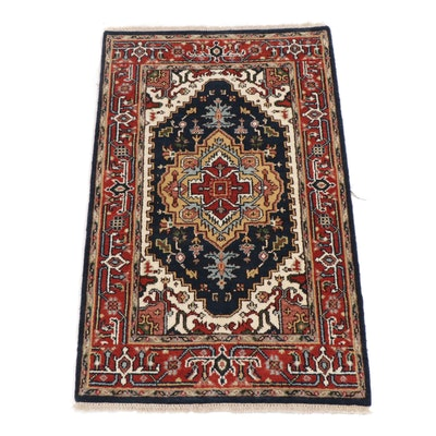 3' x 5' Hand-Knotted Indo-Persian Heriz Serapi Rug