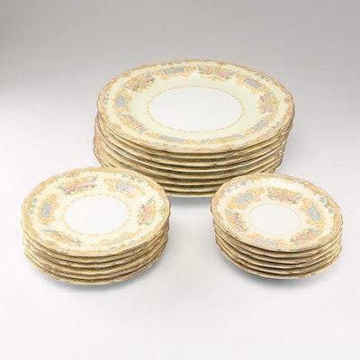 "Noritake ""Grandeur"" Porcelain Dinnerware, Late 20th Century"