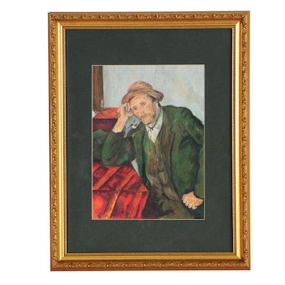 "Pastel Drawing Copy after Paul Cézanne ""Smoker"""
