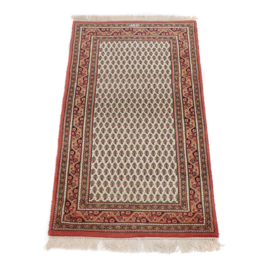 3' x 5.5' Hand-Knotted Indo-Persian Mir Seraband Rug