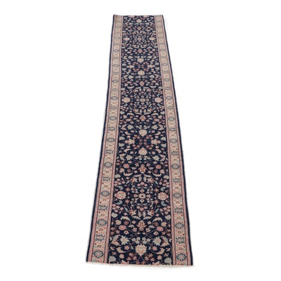 2.8' x 12.10' Hand-Knotted Romanian Persian Tabriz Carpet Runner