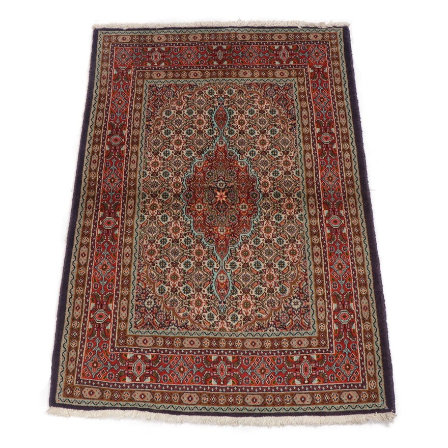 3.3' x 5' Hand-Knotted Persian Moud Khorassan Rug, Circa 1970s