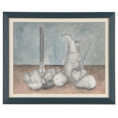 Graphite and Pastel Still Life Drawing
