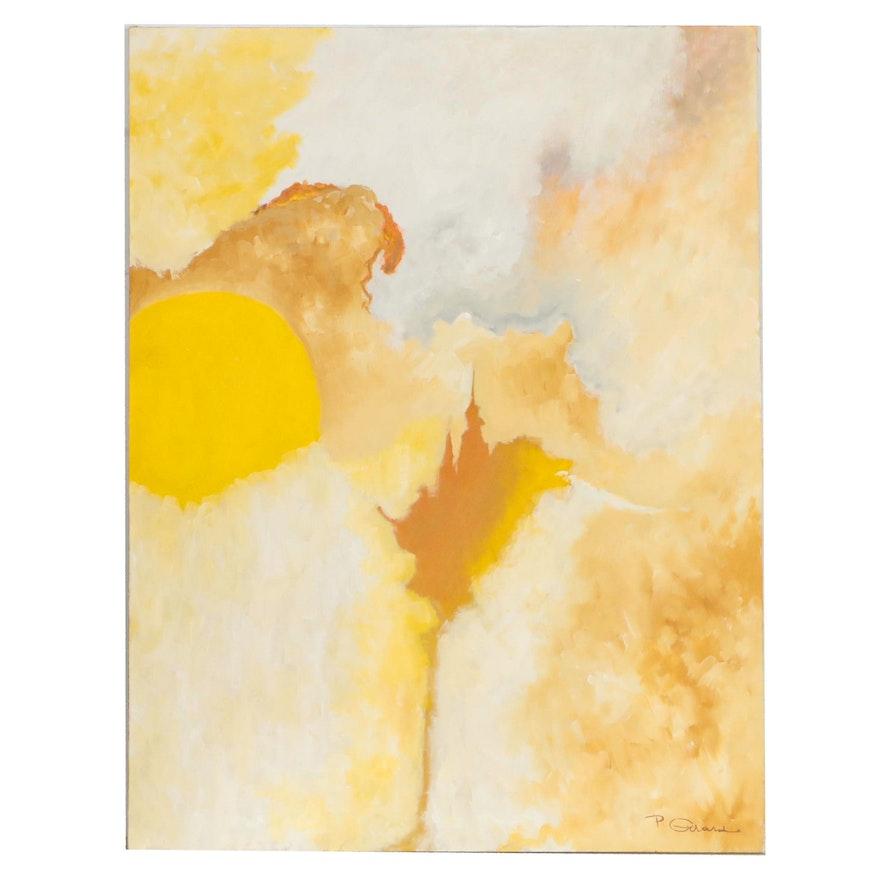 "P. Girard Abstract Oil Painting ""Phenomenon"""