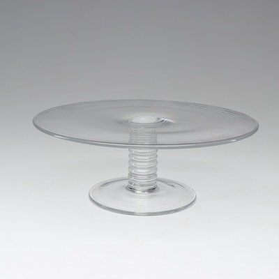 "Tiffany & Co. ""Mesa"" Crystal Cake Stand"