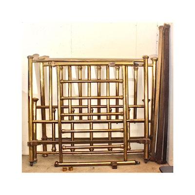 Two Vintage Brass Full Size Bed Frames