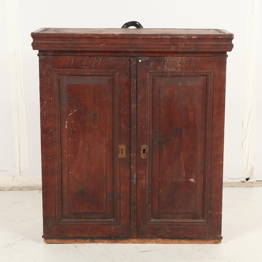 Wooden Swedish Country Style Cabinet Circa 1840