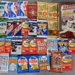 Unopened Packs of Baseball, Basketball, and Football Packs, 1980s to 2000