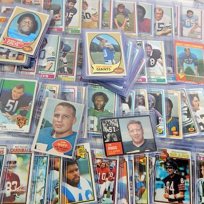 Topps Football Cards with Top Loaded Stars, 1960s/1970s
