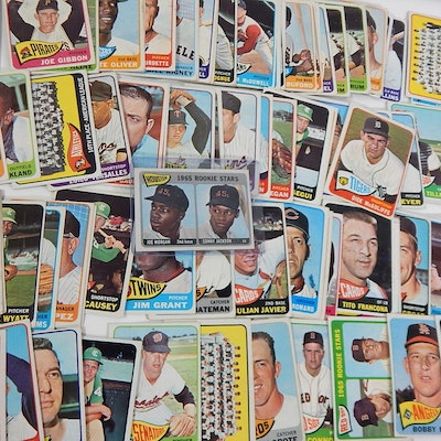 1965 Topps Baseball Cards with #16 Joe Morgan Rookie Card