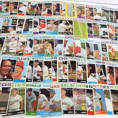 1964 Topps Baseball Cards with Killebrew, Fox, Powell, Team Cards and More