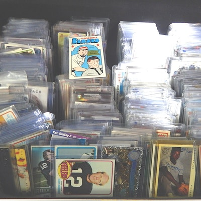 Top Loaded Sports Card Collection with Baseball, Basketball, Football