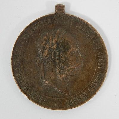 "1873 Austria-Hungary ""Kriegsmedaille"" War Service Medal"