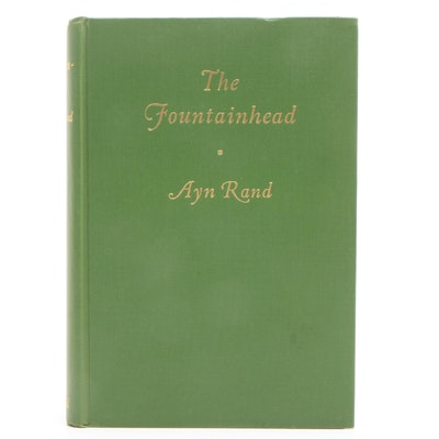 "1943 Early Edition ""The Fountainhead"" by Ayn Rand"