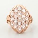 10K Rose Gold Aquamarine Ring
