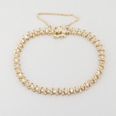 14K Yellow Gold 2.97 CTW Diamond Bracelet